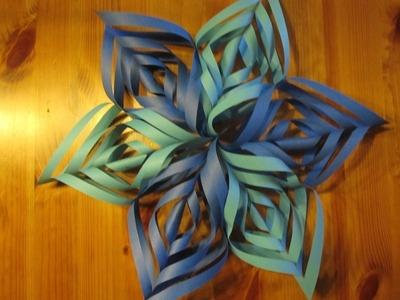WEIHNACHTSBASTELN: Papierstern Ornament basteln - Bastelideen Weihnachten - Weihnachtsdeko