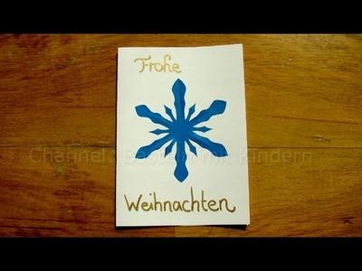 Weihnachtskarten basteln - leichte Bastelideen für Weihnachten - Schneeflocken