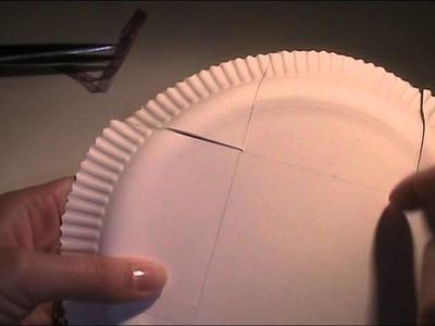 Anleitung - Aus Pappteller Behälter basteln