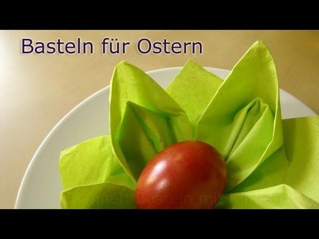 Basteln für Ostern: Osternest basteln mit Servietten