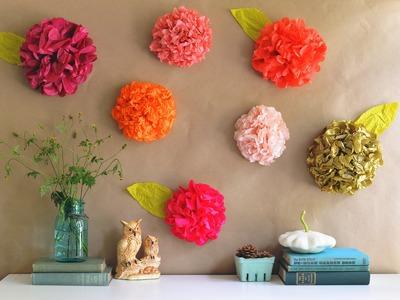 Blumen aus krepppapier. Blumen aus krepppapier basteln.
