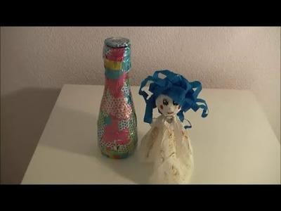 DIY: Flaschengeist. Dschinn. Jeannie mit Flasche basteln
