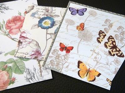 DIY. Hintergrundpapiere für Karten aus Servietten