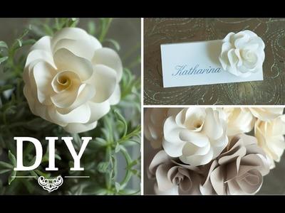 DIY: Romantische Rosenblüten aus Papier für Hochzeitsdeko selber machen | Deko Kitchen
