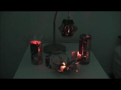 DIY Windlichter Teelichthalter aus Getränkedosen basteln Cola, Falken Bier Adam und Eva