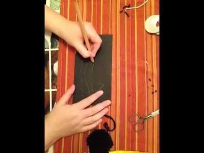 Fledermaus aus Wolle basteln