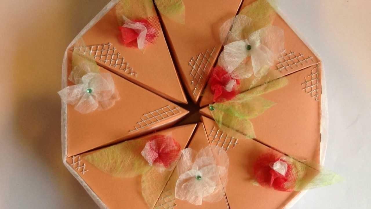 Grundanleitung - Torte als Geschenkverpackung basteln