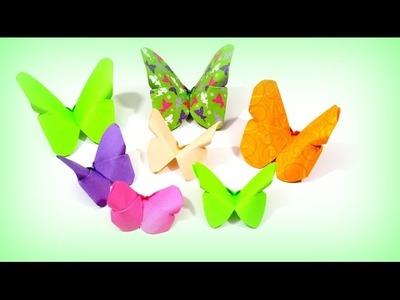 Origami Schmetterling falten - Basteln mit Papier - DIY Bastelideen