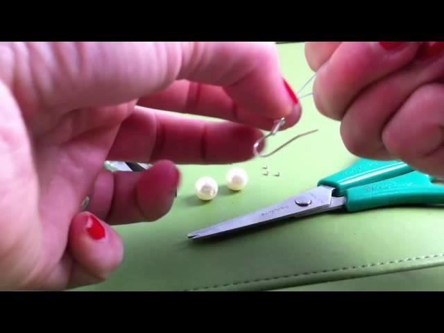 Perlenohrringe basteln. Schmuck selber machen. Anleitung