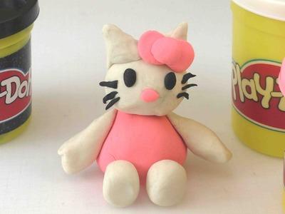 PLAY DOH - Hello Kitty aus Knete basteln. einfache Anleitung für Kinder