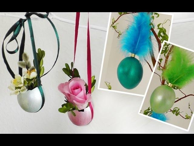 DIY: Ausgefallene Metallic-Ostereier mit Federn oder für Blumen | Deko Kitchen