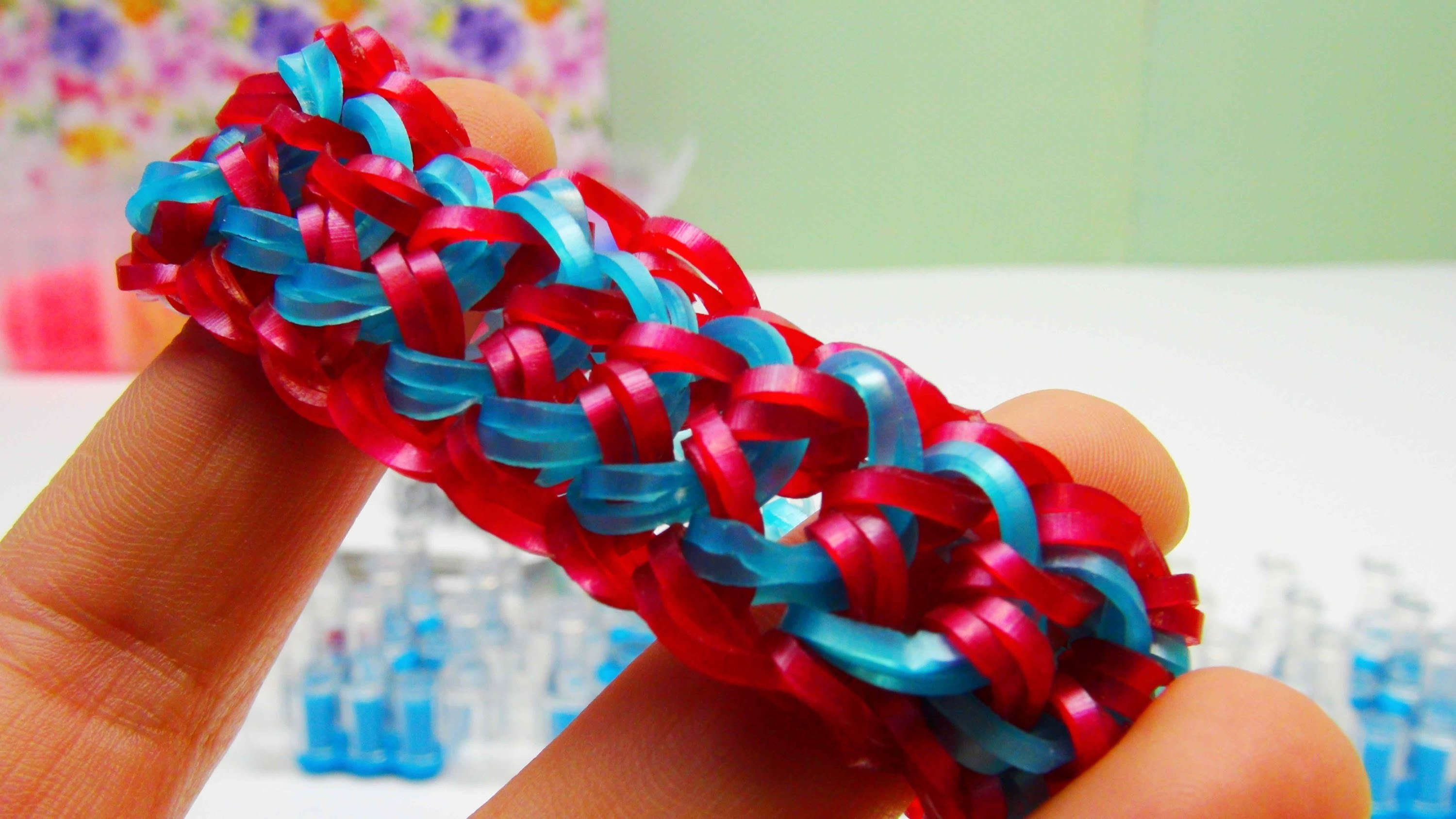 Dragon Scale Doppelt Loom Bands Armband. Dragon Scale Bracelet. Mit loom Anleitung
