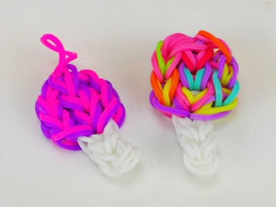 Lollipop Loom Bands Charm. DIY Rainbow Loom Lollipop Anhänger Anleitung | deutsch