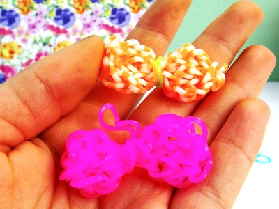 Loom Bands Charm Schleife Anhänger Loop Tutorial with Rainbow Loom Anleitung | deutsch