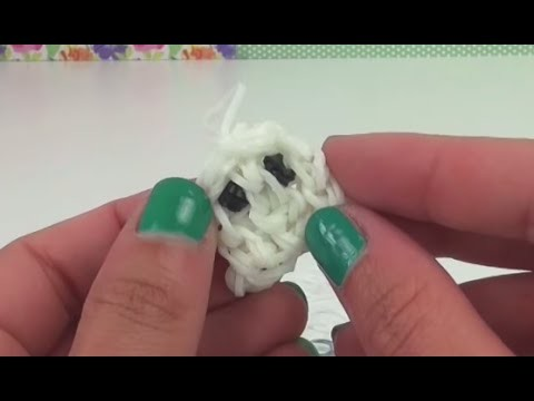Loom Bands Geist Anhänger Rainbow Loom Ghost Charms Halloween Tutorial deutsch mit Loom Board