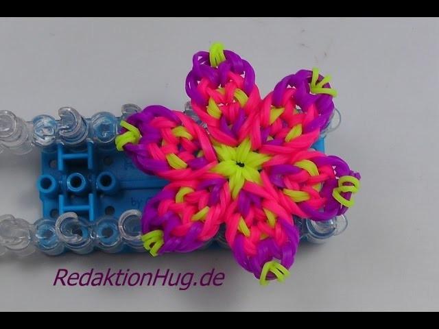 Loom Bands mit Rainbow Loom Anleitung Deutsch Blume O - Veronika Hug