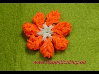 Loom Bands ohne Rainbow Loom Blume Anleitung Deutsch F - Veronika Hug