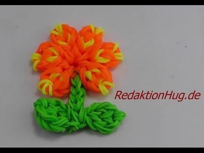 Loom Bands ohne Rainbow Loom Anleitung Deutsch Blume L - Veronika Hug