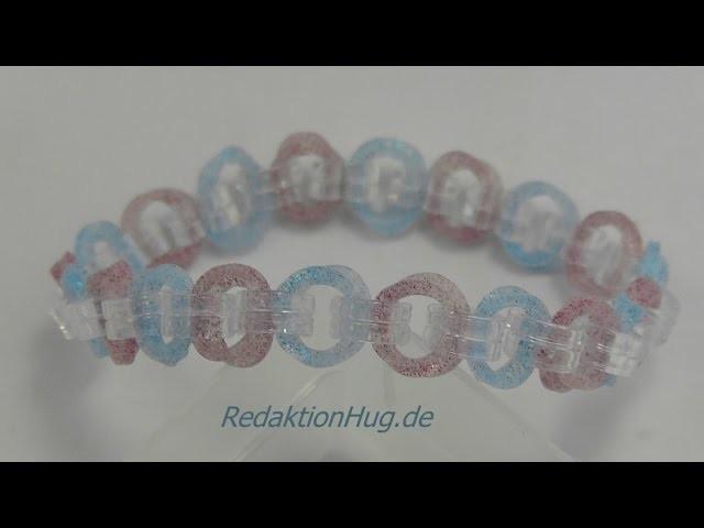 Loom Bands Rainbow Loom Armband mit C-Clips Anleitung Deutsch 1 - Veronika Hug