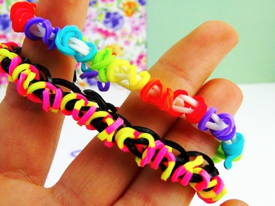 Loom Bandz Single Bracelet. Armband mit Kringeln | Loom Band MonsterTail Tutorial | deutsch