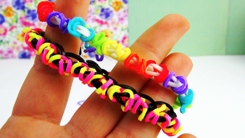 Loom Bandz Single Bracelet. Armband mit Kringeln | Loom Band MonsterTail Tutorial | deutsch