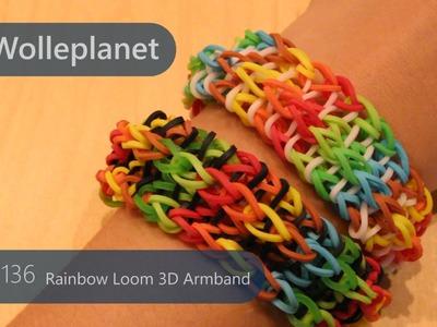 Rainbow Loom 3D Armband mit Gabel