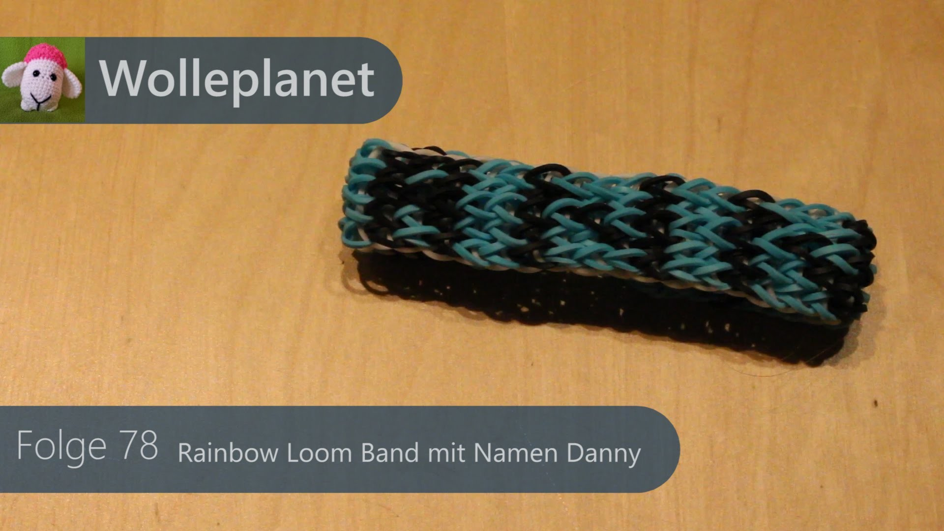 Rainbow Loom Band mit Namen Danny mit Loom