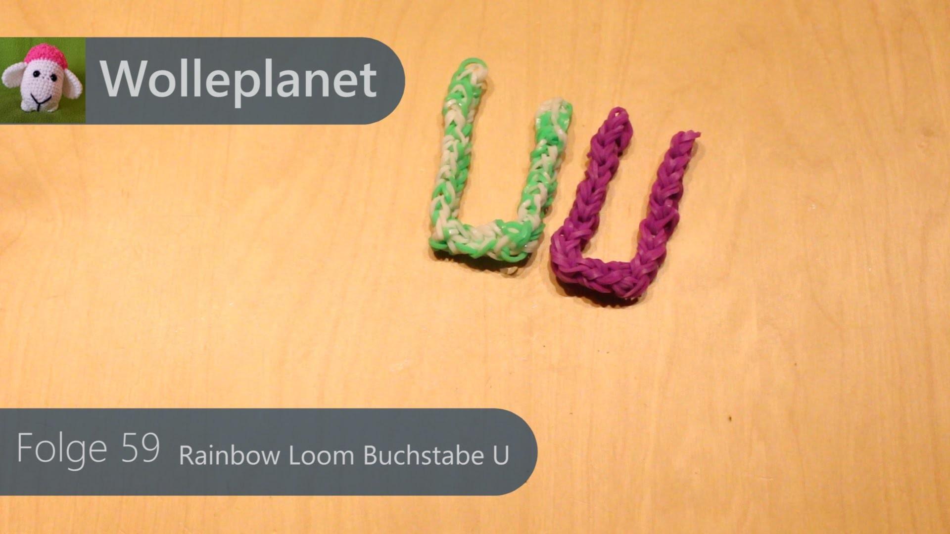 Rainbow Loom Buchstabe U mit Gabeln