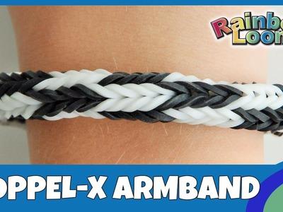 Rainbow Loom Doppel-X Armband mit MonsterTail - deutsche Anleitung