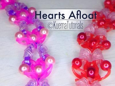 Rainbow Loom Hearts Afloat Armband. bracelet