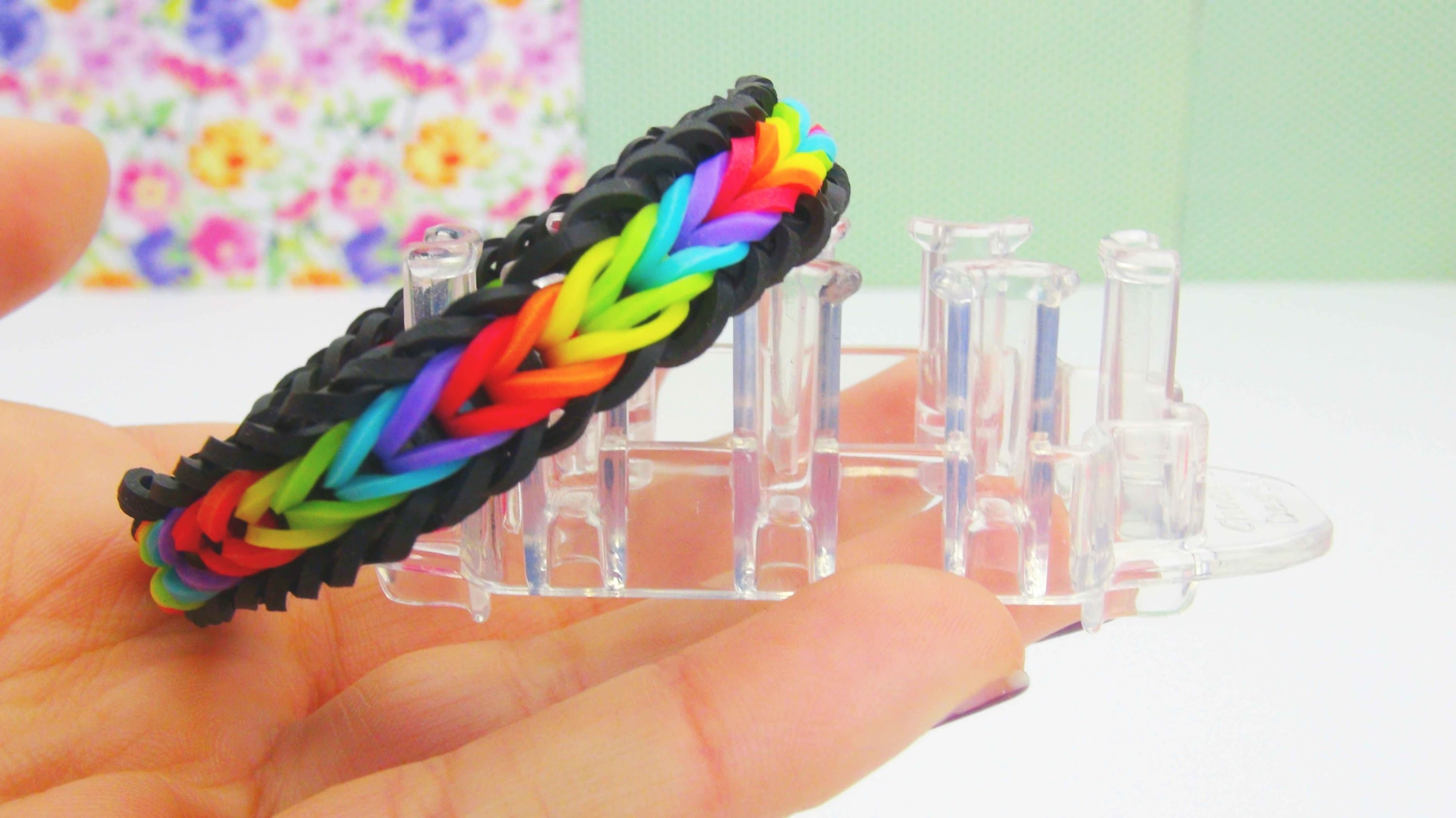 Rainbow Loom Monster Tail Fishtail Regenbogen Farben Armband. Bracelet Loom Band Tutorial | deutsch