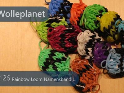 Rainbow Loom Namensband L mit Loom