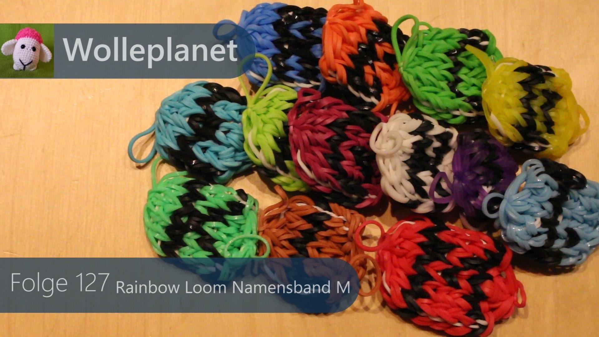 Rainbow Loom Namensband M mit Loom