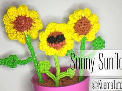 Rainbow Loom Sonnenblume. Sunflower