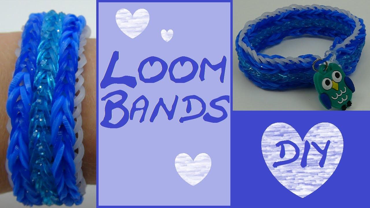 DIY Breites Loom Band mit Streifen. Anleitung
