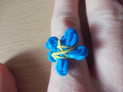 Loom Bands Anleitung deutsch Flower Blume Ring - Rubber Bandz tutorial