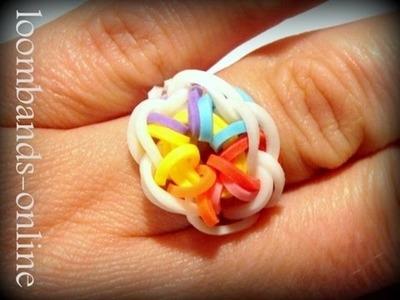 Loom Bands mit Rainbow Loom - Starbust Ring, Sternen Ring (deutsche Anleitung Bilder)