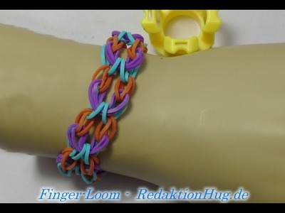 Loom Bands - Rainbow Loom - Finger-Loom - Band H - Veronika Hug