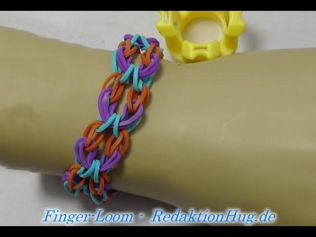 Loom Bands - Rainbow Loom - Finger-Loom - Band H - Veronika Hug