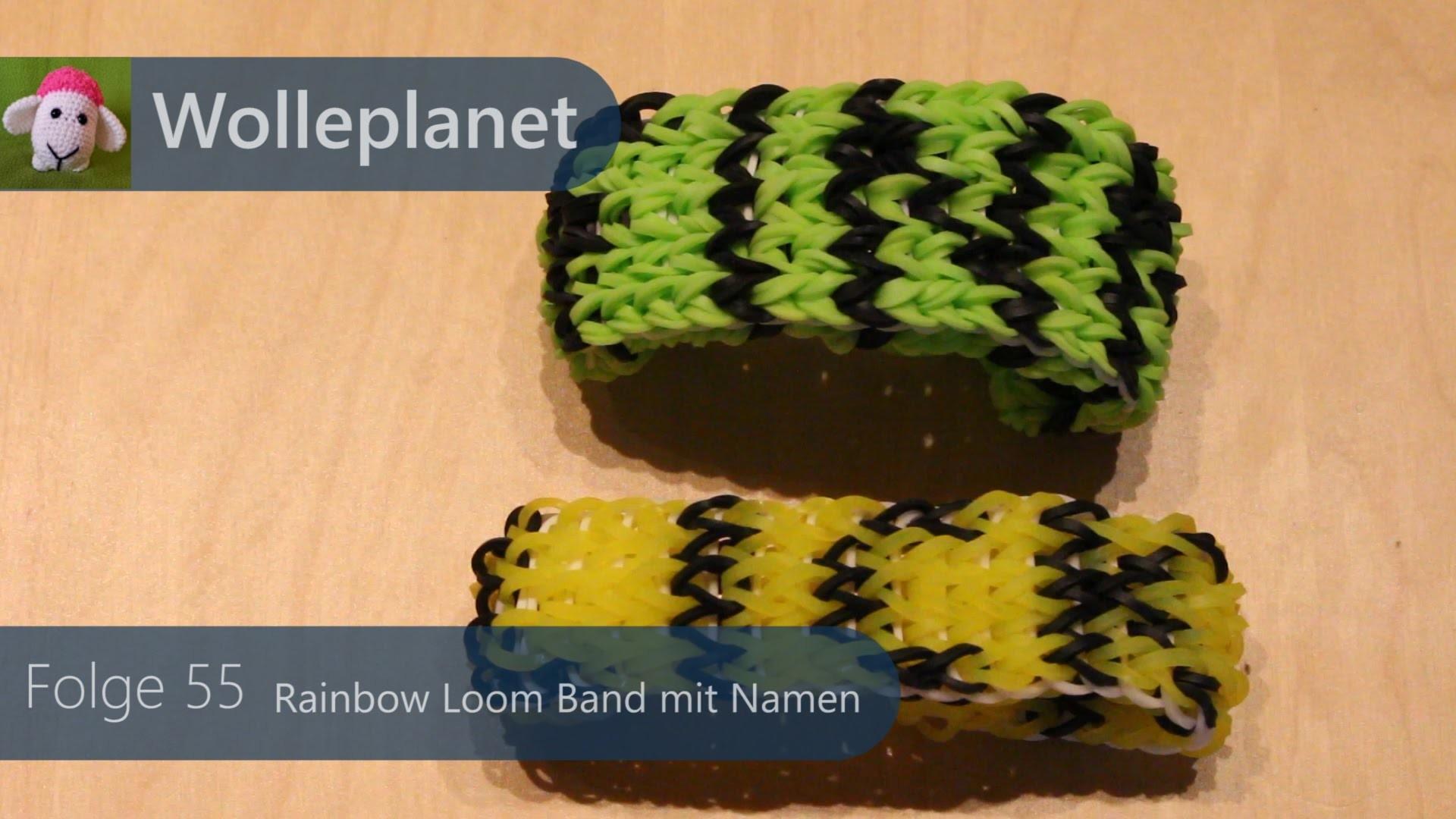 Rainbow Loom Band mit Namen