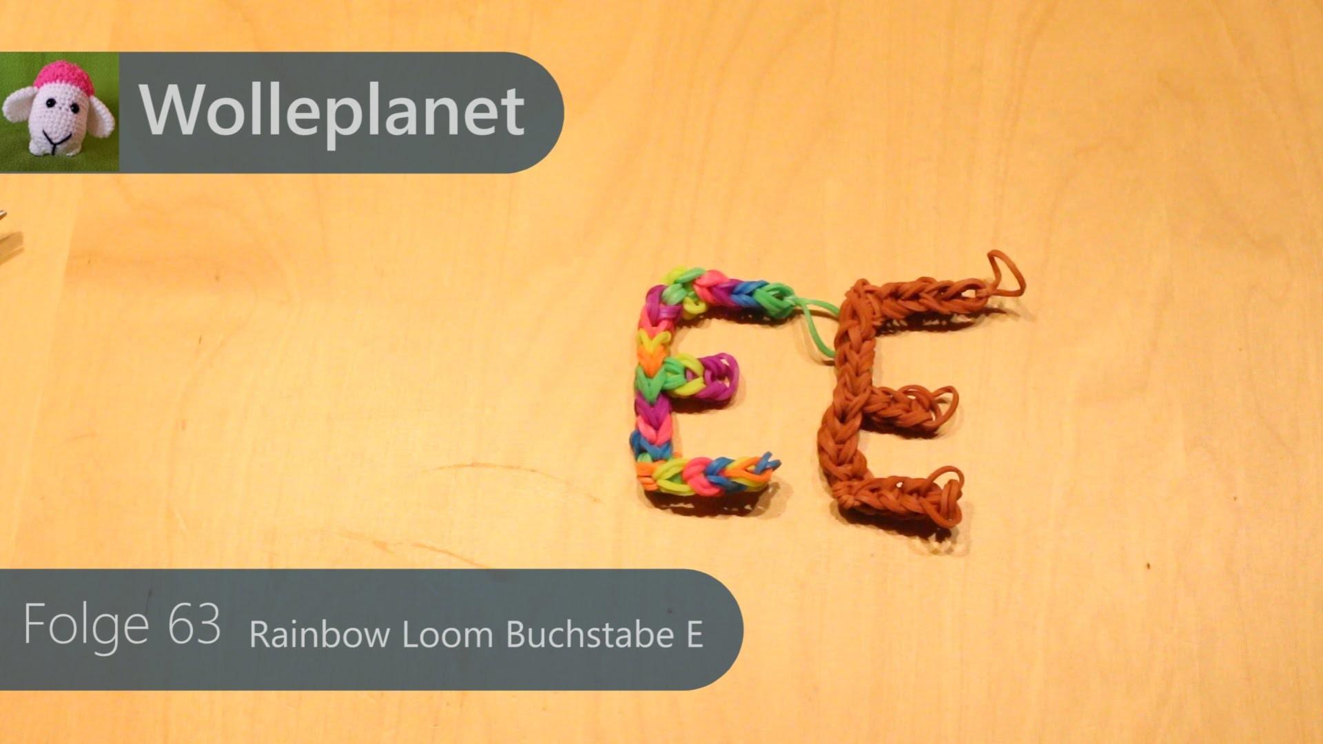 Rainbow Loom Buchstabe E mit Gabeln