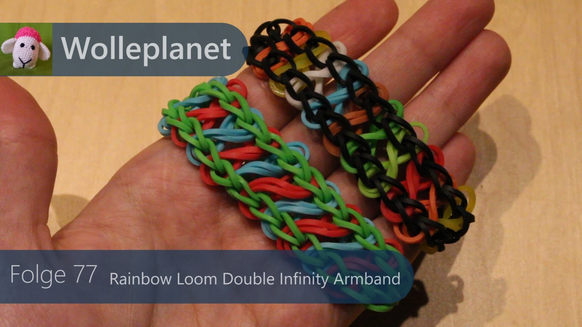 Rainbow Loom Double-Infinity-Armband  mit Loom