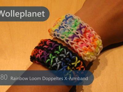 Rainbow Loom Doppeltes X-Armband mit 2 Looms