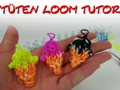 Rainbow Loom Eis deutsch Eis-Tütorial (Haha, Wortspiel) loom bands ice cream charm tutorial