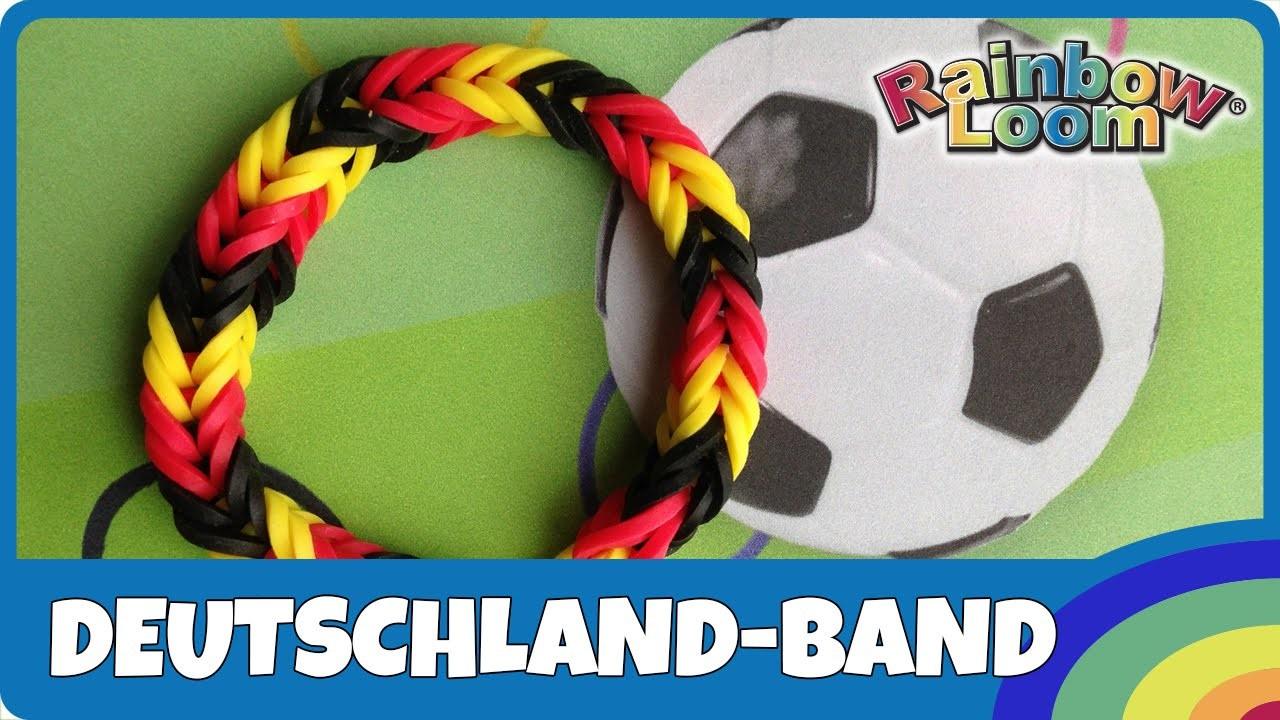 Rainbow Loom Fußball-WM Fan-Armband - deutsche Anleitung