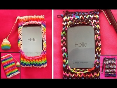 Rainbow Loom Handyhülle. Case | German Tutorial