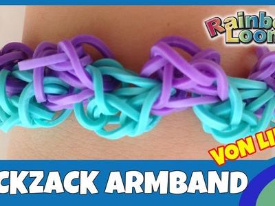 Rainbow Loom Zickzack Armband von Linda- deutsche Anleitung