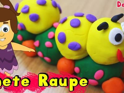 German DIY Einfach: How To Play Doh Caterpillar | Knete Raupe Deutsch