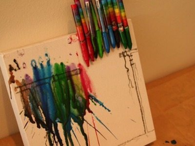 Make Fun Melted Crayon Art - DIY Crafts - Guidecentral