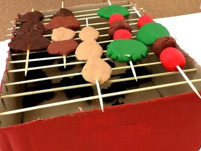 Play doh grill - Grill selber bauen und Grillspieße aus PlayDoh Knete formen Anleitung